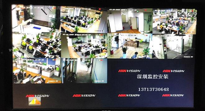 龙华区民乐科技园电商公司办公室监控安装.jpg
